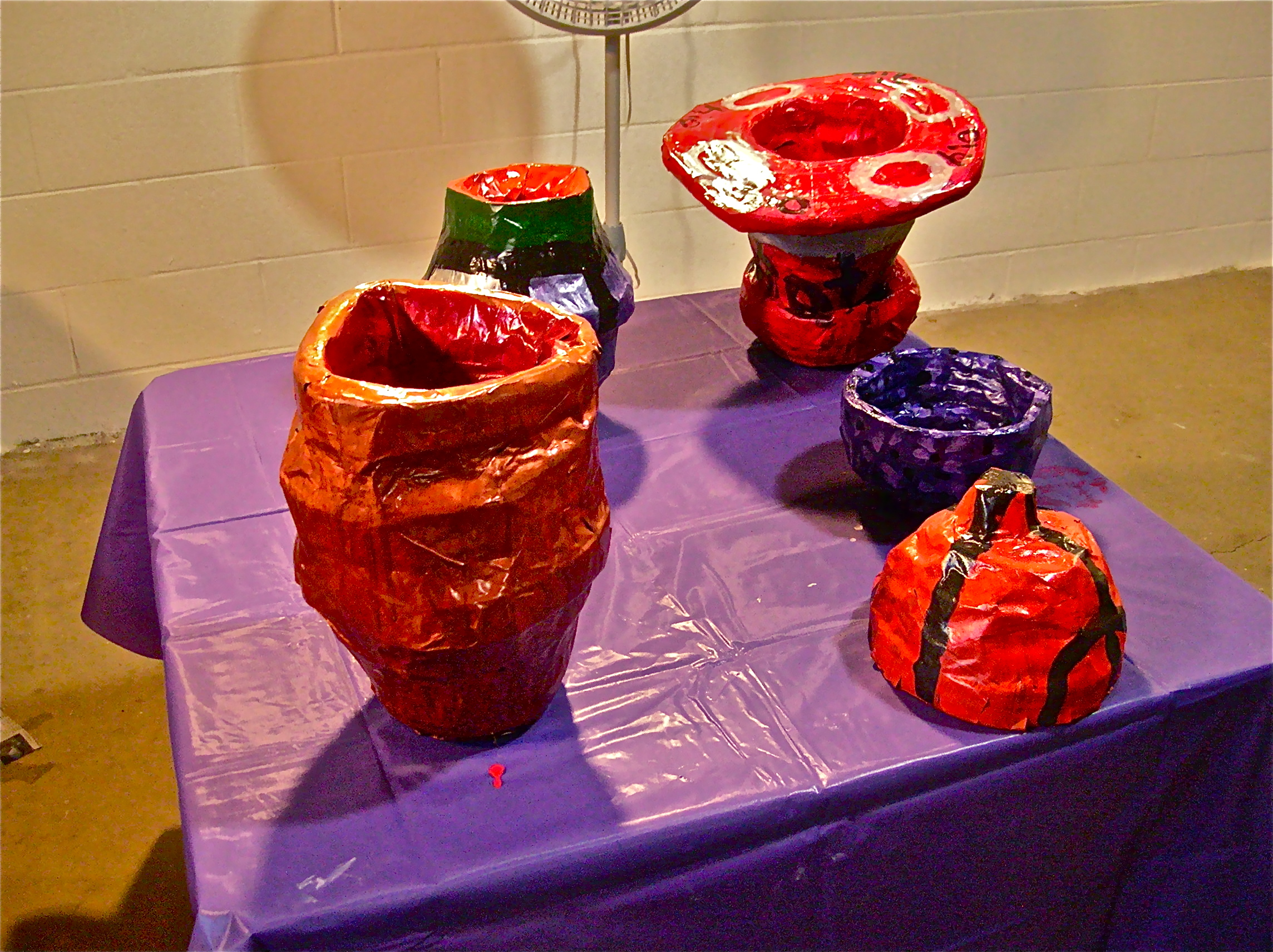 Paper mache pottery finishing touches the art junction for Finishing paper mache