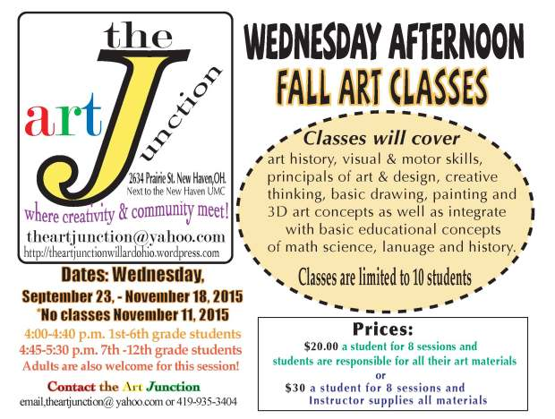 Wednesday afternoonartclassesfall2015