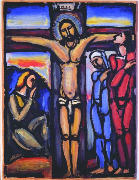 Crucifixion.Georges-Rouault.Le-Christ-en-Cross.1936.Collection-of-Saint-Marys-Museum-of-Art.Gift-of-the-Stricker-family.Sermon-Caitlin-Trusselljpg2
