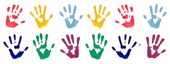 Paint hands banner